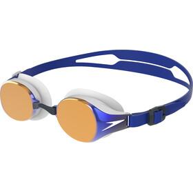 speedo Hydropure Mirror Gogle, white/gold/blue